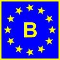 Naklejka B typ EU połysk