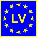 Naklejka LV typ EU połysk