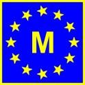 Naklejka M typ EU połysk