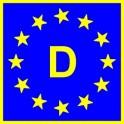 Naklejka D typ EU połysk