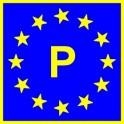 Naklejka P typ EU połysk