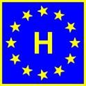 Naklejka H typ EU połysk