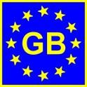 Naklejka GB typ EU połysk