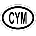 Naklejka CYM typ 96 połysk