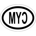 Naklejka CYM typ 96 połysk lewa