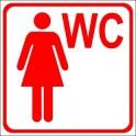 Naklejka WC dla kobiet czerwony