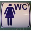 Naklejka WC dla kobiet niebieski