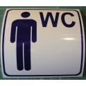 Naklejka WC dla mężczyzn niebieski