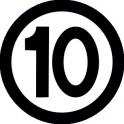 Naklejka prędkość max 10 B 16,5cm połysk