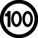 Naklejka prędkość max 100 B 16,5cm połysk