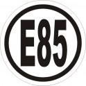 Benzyna E85 naklejka 5x5cm