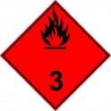 ADR grupa 3 czarny 30cm naklejka