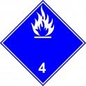 ADR grupa 4.3 biały 25cm naklejka