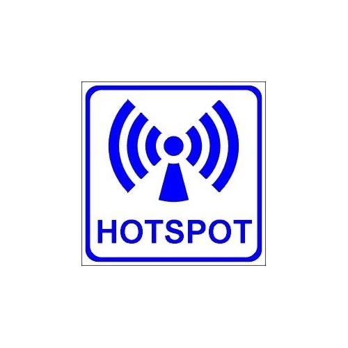 Naklejki piktogramy Wi-Fi HotSpot
