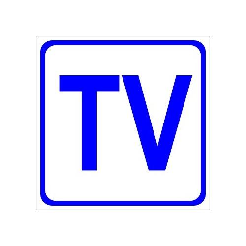 Naklejki piktogramy telewizja