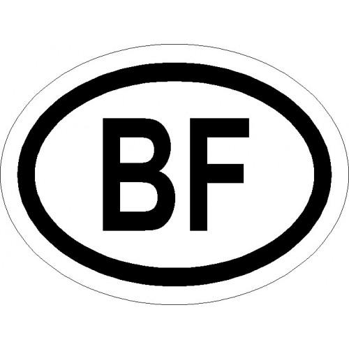 Naklejki kraj pojazdu Burkina Faso