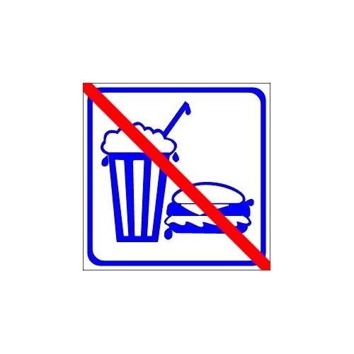 Naklejki piktogramy nie jeść