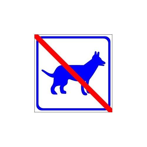Naklejki piktogramy nie dla zwierząt