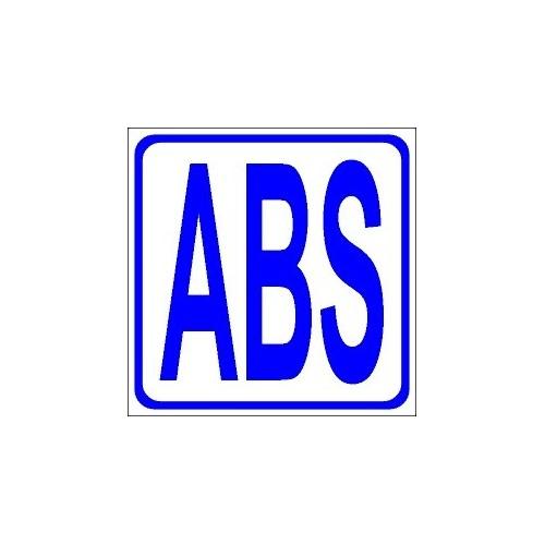 Naklejki piktogramy ABS