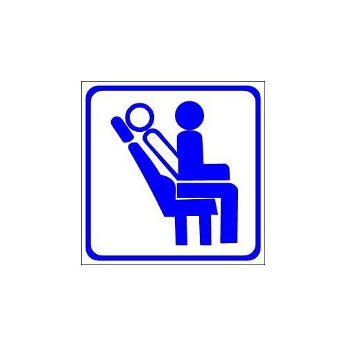 Naklejki piktogramy fotele rozkładane