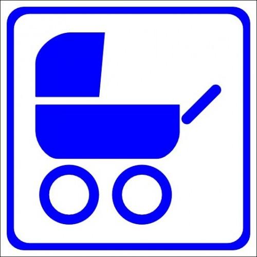Naklejki piktogramy wózki dziecięce