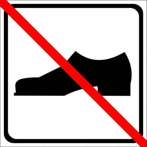 Naklejki piktogramy rodzaj obuwia