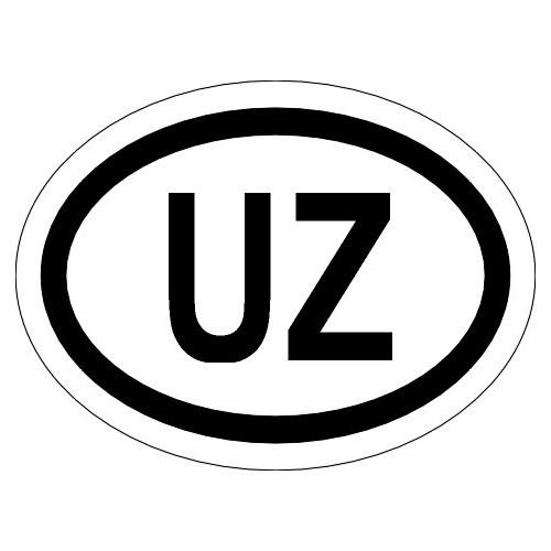 Naklejki kraj pojazdu Uzbekistan