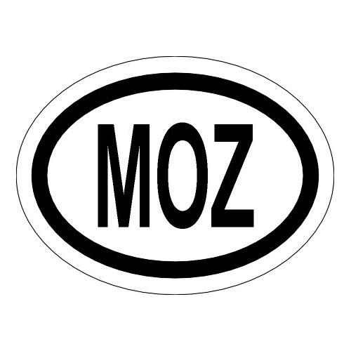 Naklejki kraj pojazdu Mozambik