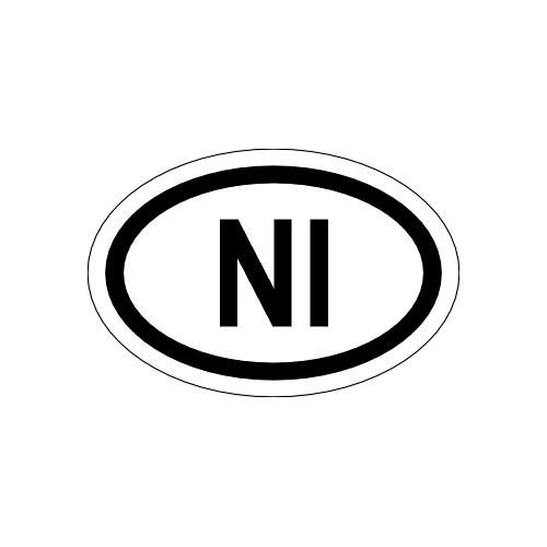 Naklejki kraj pojazdu Irlandia Północna