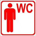 Sticker WC for men red