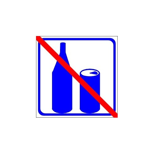 Stickers pictograms do not drink